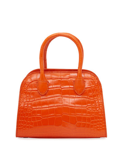 Margaux 7.5 Top-Handle Bag in Alligator Exotic
