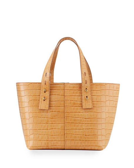 FRAME Mock-Croc Medium Tote Bag