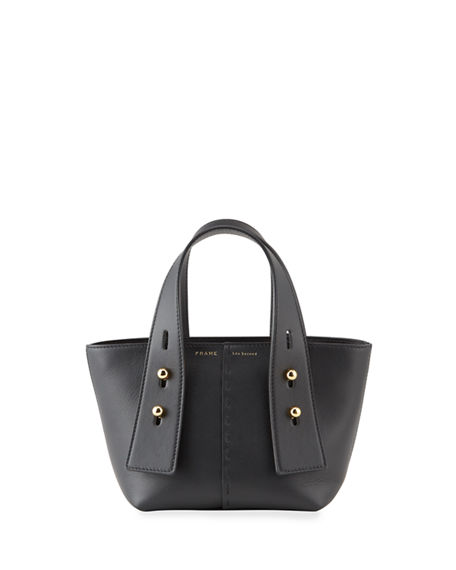 Image 1 of 4: FRAME Les Second Mini Leather Tote Bag