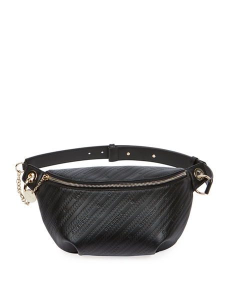 Givenchy Bond Monogramed Leather Belt Bag