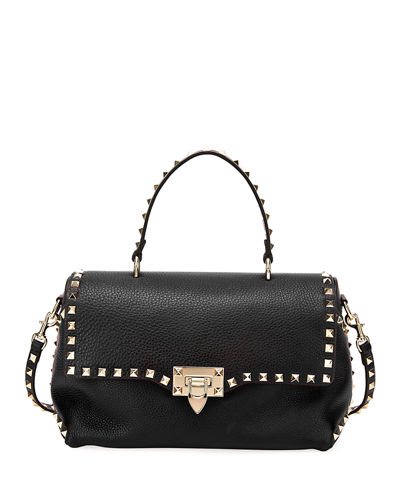 Rockstud Vitello Stampa Shoulder Bag