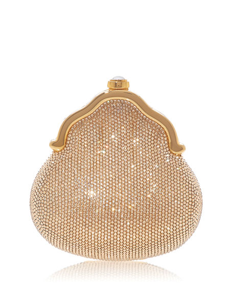 Judith Leiber Couture Chatelaine Shimmering Crystal Pouch Clutch Bag