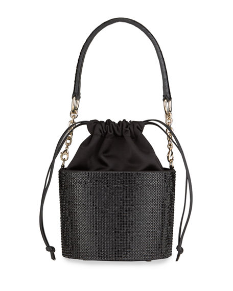 Judith Leiber Couture Crystal Bucket Bag with Crossbody Strap