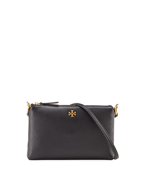 Tory Burch Kira Pebbled Leather Top-Zip Crossbody Bag