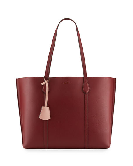 Tory Burch Perry Triple-Compartment Leather Tote Bag