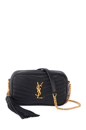 Saint Laurent Lou Mini YSL Grain de Poudre Camera Crossbody Bag