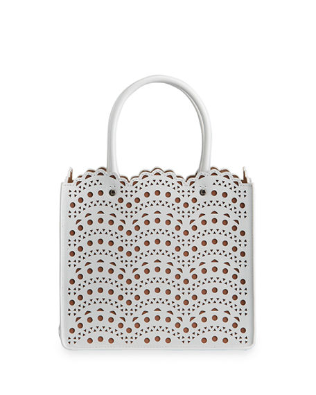 ALAIA Garance 16 Small Lux Vienne Vague Tote Bag