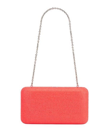Judith Leiber Couture Smooth Rectangle Neon Full-Bead Clutch Bag