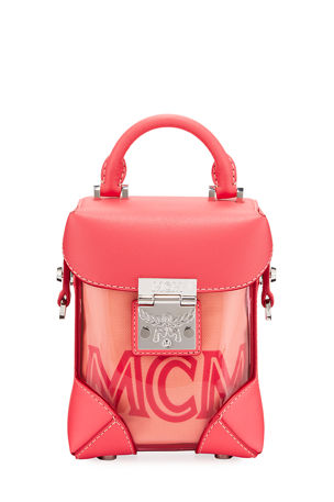 MCM Berlin Mini Soft See-Through Crossbody Bag