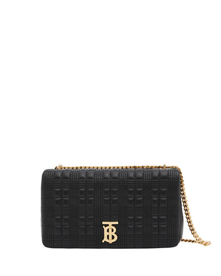 Burberry Lola Medium Quilted Check Leather Bag