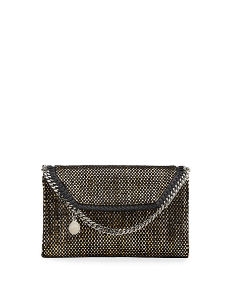Stella McCartney Falabella Mini Woven Wallet on Chain