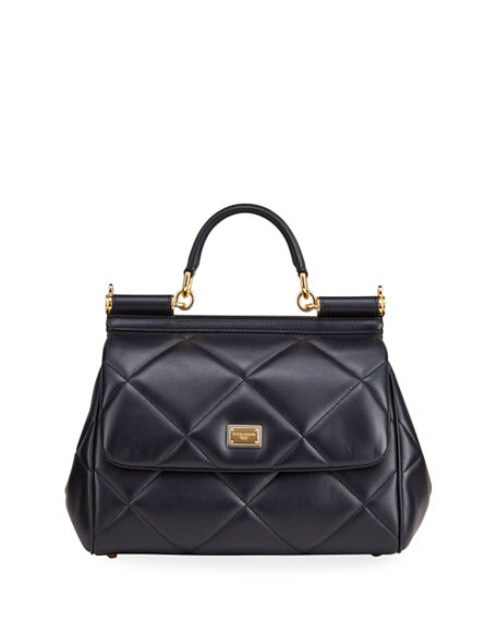 Dolce & Gabbana Miss Sicily Medium Quilted Leather Satchel Bag