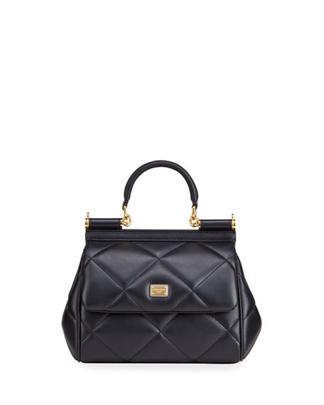 Dolce & Gabbana Sicily Small Quilted Top-Handle Bag