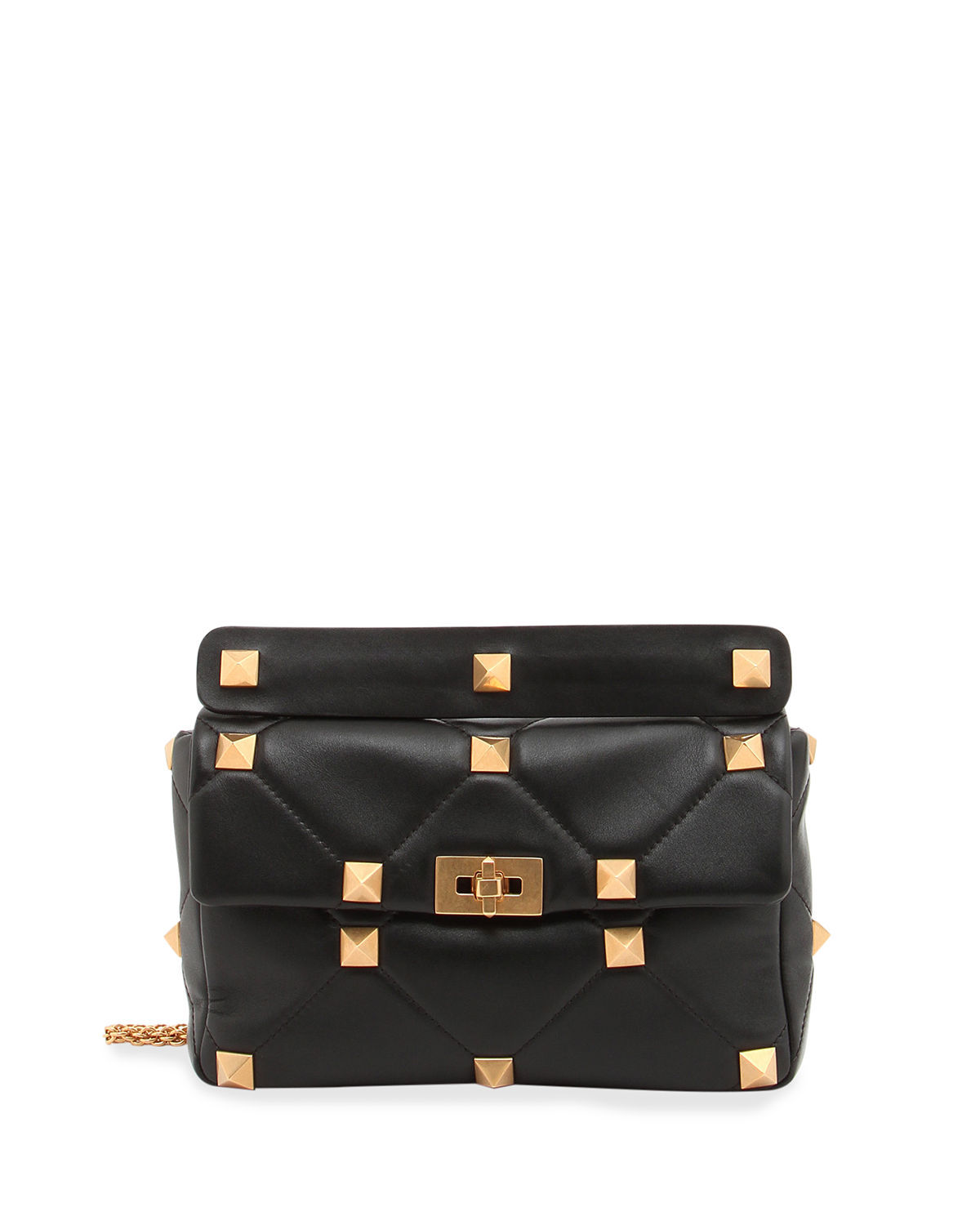 Valentino Chian bags ROMAN STUD LARGE QUILTED LEATHER SHOULDER BAG