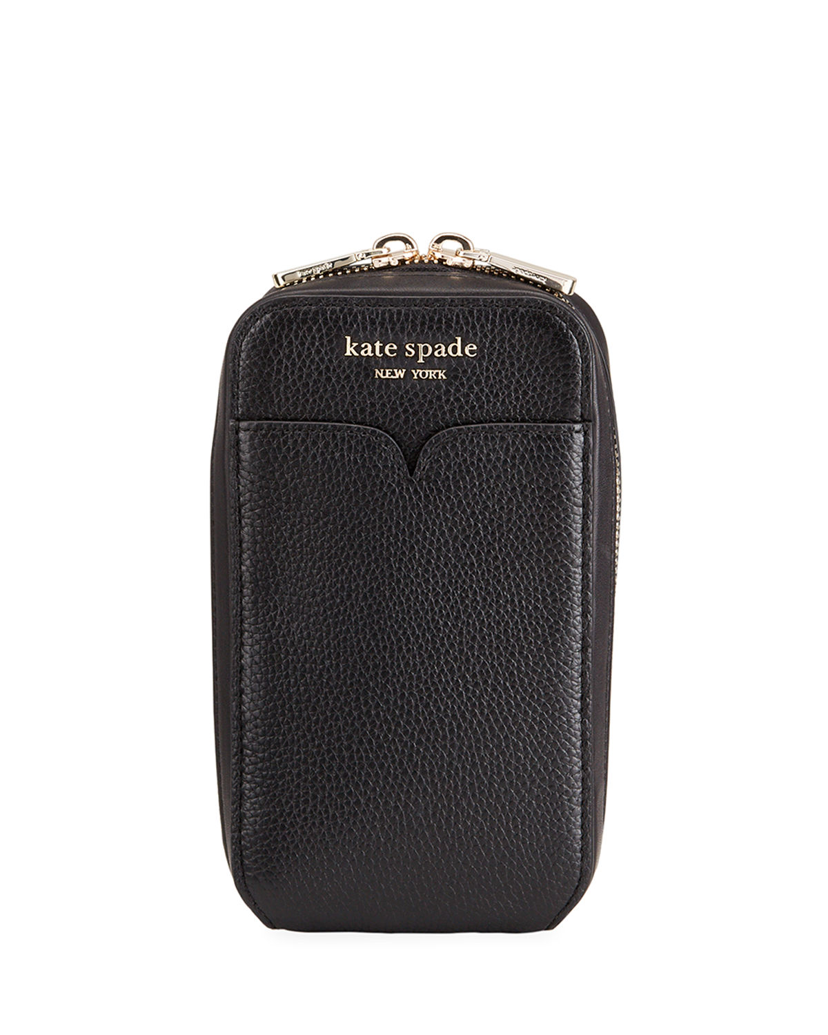 leather zip phone pouch bag