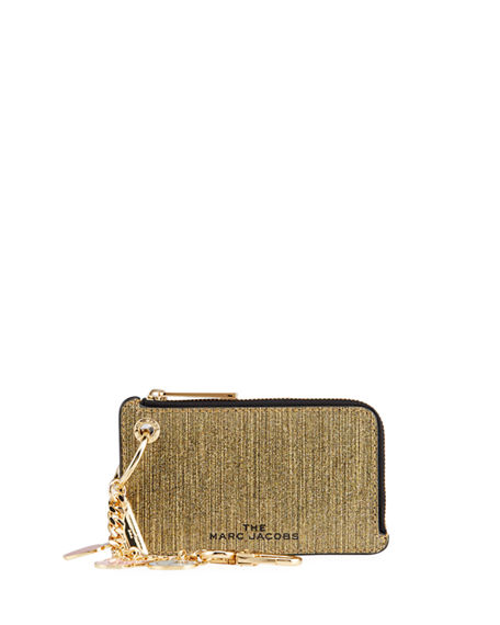 The Marc Jacobs Metallic Leather Charmed Chain Coin Purse
