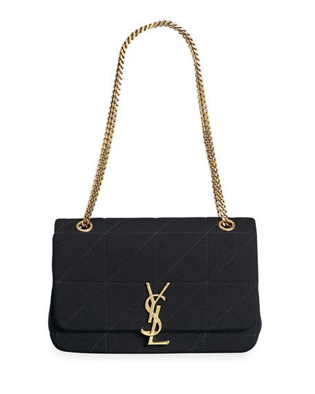 Saint Laurent Jamie Medium Jersey Wool Patchwork Shoulder Bag