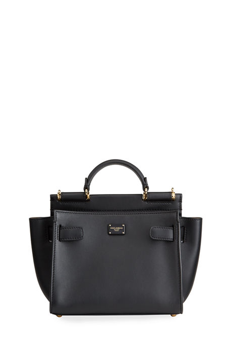 Dolce & Gabbana Sicily Mini Leather Top-Handle Bag