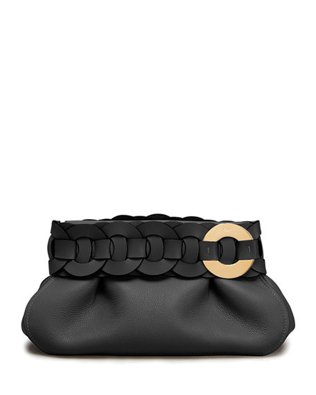 Chloe Darryl Small Braided Ring Clutch Bag
