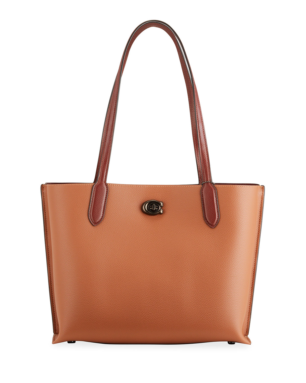 Willow Colorblock Signature Coated Leather Tote Bag