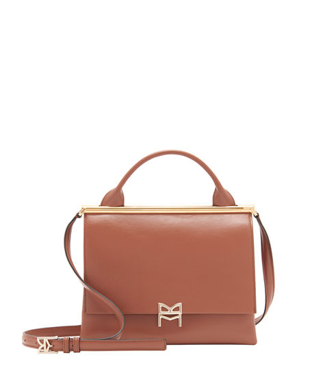 Bruno Magli Leather Top Handle Satchel Bag