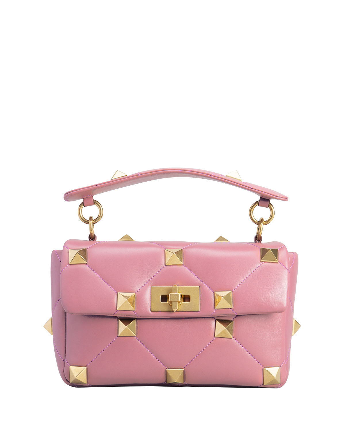 Valentino Chian bags ROMAN STUD MEDIUM QUILTED CHAIN SHOULDER BAG