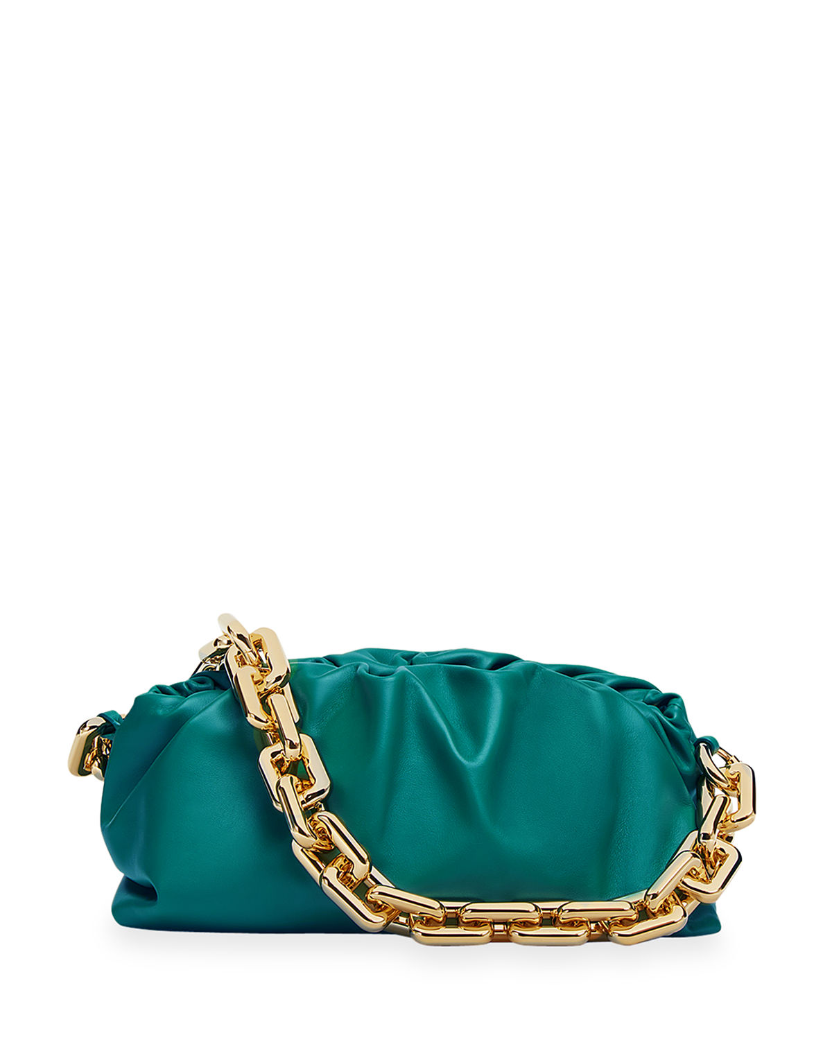 Bottega Veneta MEDIUM RUCHED NAPA CHAIN POUCH BAG