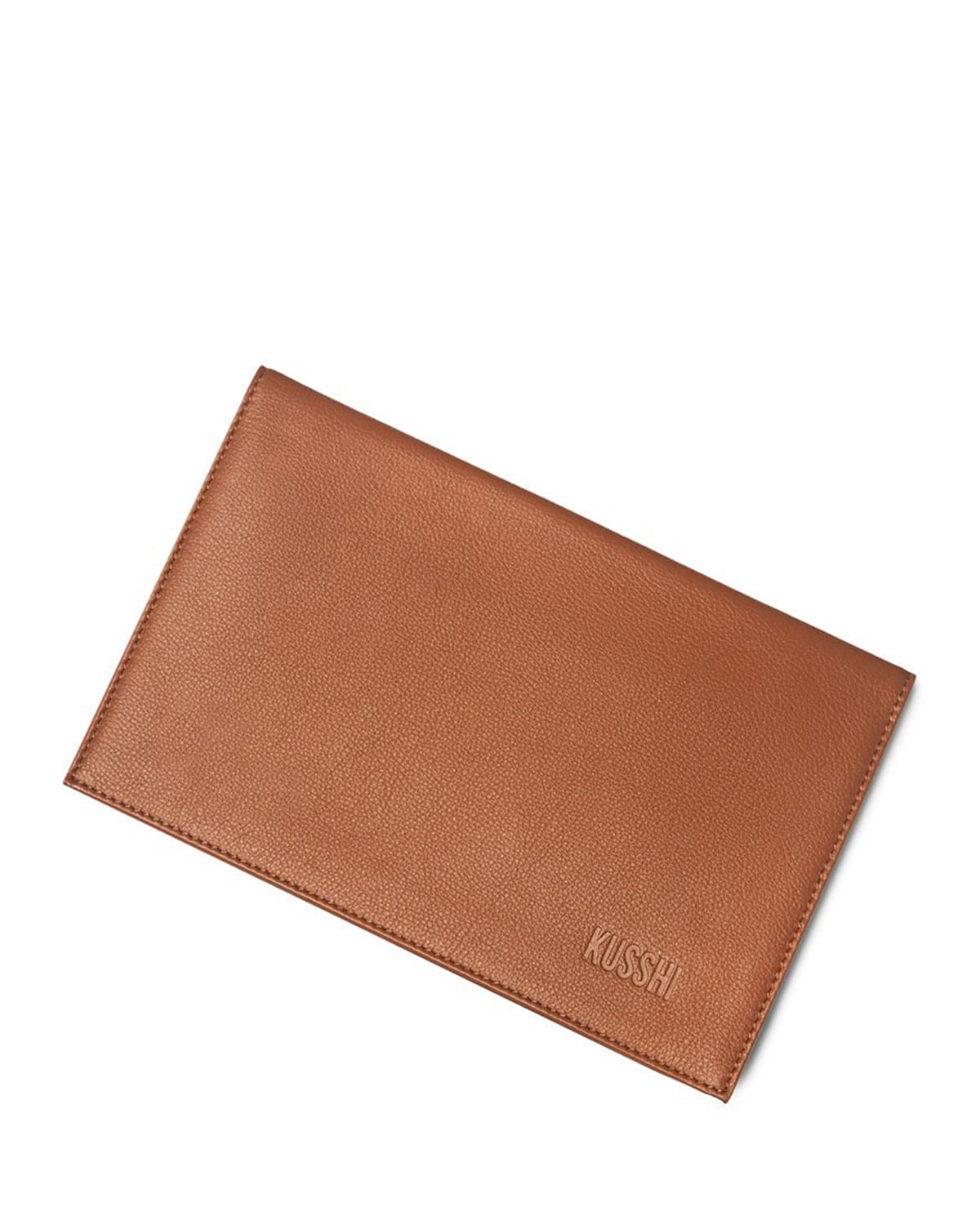 Leather Clutch Cover + Brush Organizer