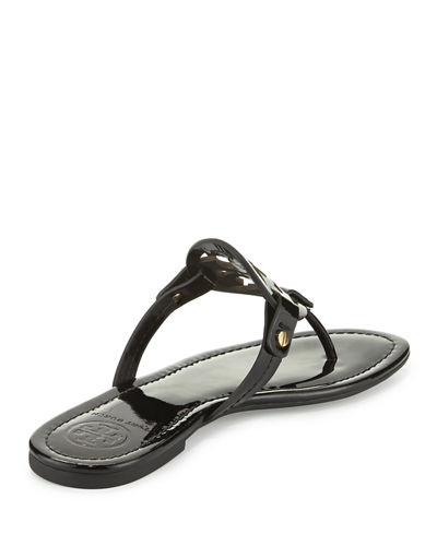 Tory Burch Miller Medallion Patent Leather Flat Thong