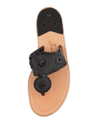 Image 3 of 4: Palm Beach Whipstitch Thong Sandal