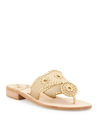 Nantucket Whipstitch Thong Sandals