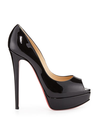 Christian Louboutin Lady Peep Patent Red Sole Pump