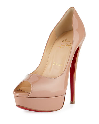 ff82f2131294 Quick Look. Christian Louboutin · Lady Peep Patent Red Sole Pump