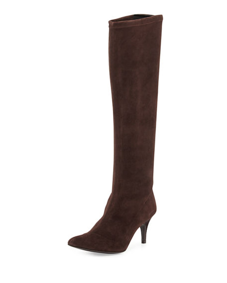 New Styles Online Delman Suede Pointed-Toe Mid-Calf Boots Discount Latest 5wgLQEX3