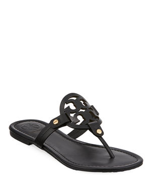bb200b326e5e Tory Burch Miller Medallion Leather Flat Thong