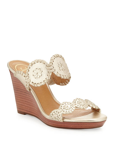 Luccia Leather Wedge Sandal