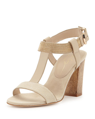 Lola Cruz Chain-Link Leather Sandals Cheapest for sale F3aHo1Dkv