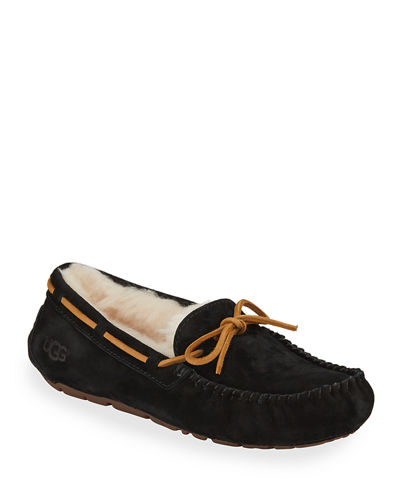 Dakota Classic Suede Tie Slipper