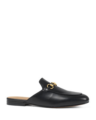 Gucci Leather Horsebit Mule Slipper Flat