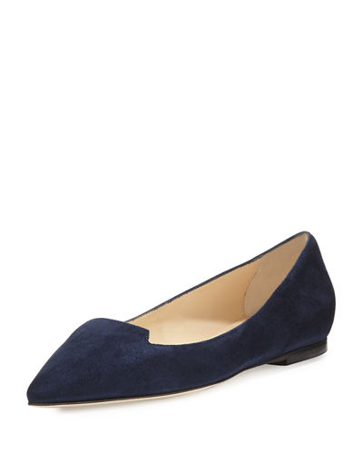 Attila Suede Pointed-Toe Flat