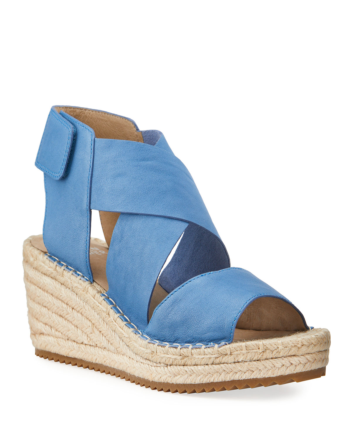 Eileen Fisher Leathers WILLOW LEATHER ESPADRILLE SANDAL, BLACK