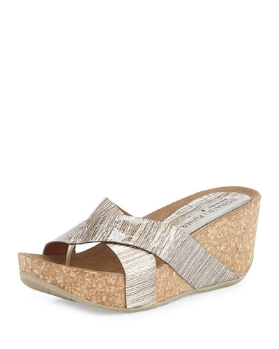 Donald J Pliner Gallo Crisscross Wedge Thong Sandal