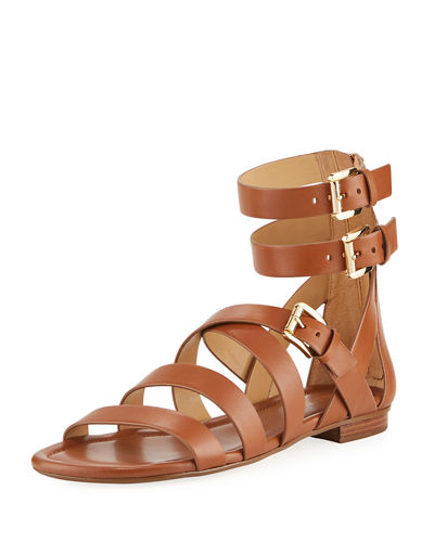 MICHAEL Michael Kors Jocelyn Strappy Flat Leather Sandal