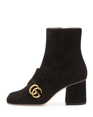 Image 3 of 5: Marmont Suede 75mm Ankle Boot