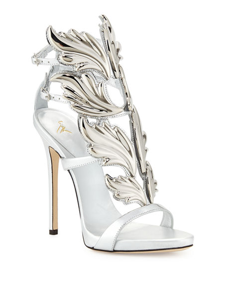 fae69ce54bdc GIUSEPPE ZANOTTI WOMEN S COLINE CRUEL PATENT LEATHER WING EMBELLISHED HIGH-HEEL  SANDALS