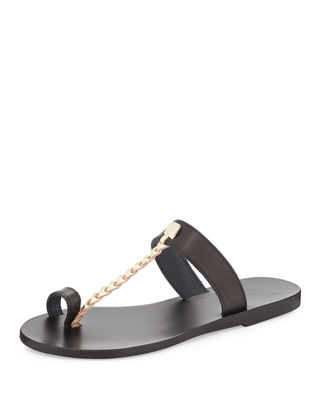Ancient Greek Sandals Melpomeni Toe-Ring Leather Sandal