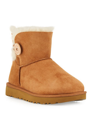 Mini Bailey Button Ii Ankle Boots, Chestnut Suede