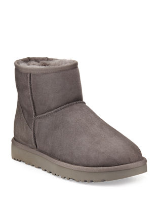 'Classic Mini Ii' Genuine Shearling Lined Boot (Women), Grey Suede