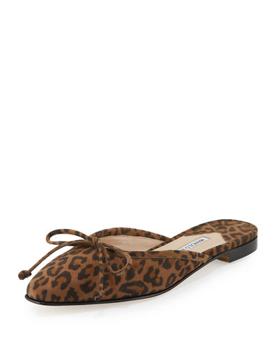 Buy Cheap Comfortable Manolo Blahnik Leopard Slingback Flats Buy Best Cheap Sale Big Discount Clearance Visit irJsFVhS5