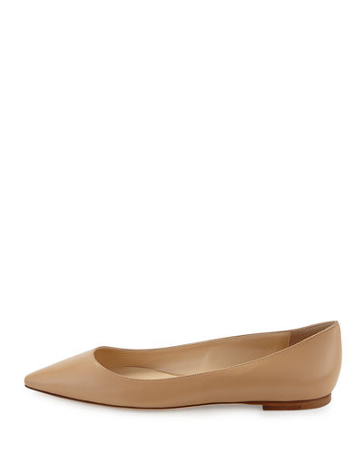 Jimmy choo Leather Romy Ballerina Flats Clearance Footaction DIpWZPSdG